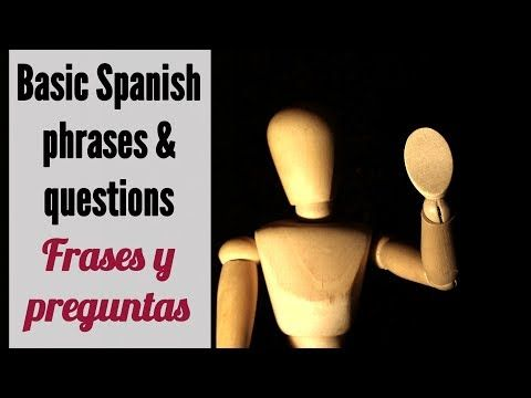 This video covers some common Spanish phrases and questions to hold a basic conversation in Spanish with a friend or a stranger. Most of these Spanish conversational phrases are simple questions like ¿Cómo estás? (how are you in Spanish), ¿Dónde vives? (where do you live in Spanish), ¿Qué haces? (what do you do in Spanish).... Esperamos te sirva ;)