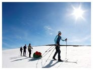 Self-guided Ski Touring on the Jämtland Triangle. A self-guided winter tour at your own pace in the beautiful mountains of Jämtland. Location: Jämtland, Sweden. Price: (self-catering): £286/person/4 night tour