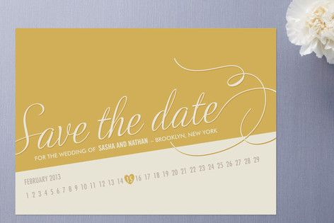 {Save the date} Fun way to highlight date.