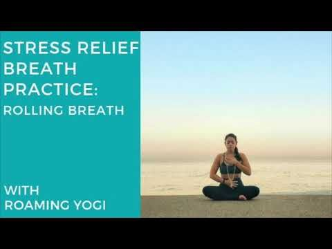 Stress Relief Pranayama Practice Rolling Diaphragmatic Breathing Youtube Stress Relief Diaphragmatic Breathing Pranayama