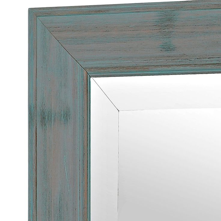 Distressed Teal Framed Mirror, 31x43 | Kirklands