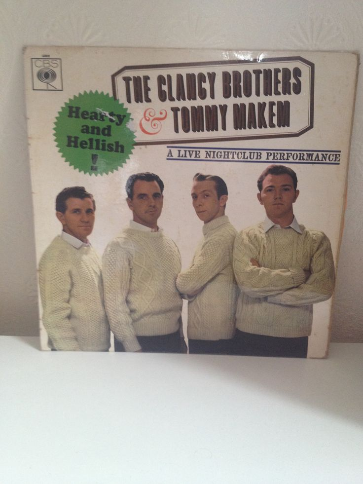 The Clancy Brothers and Tommy Makem - Hearty and Hellish. Check the collection of wooly jumpers...