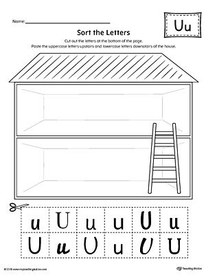 Sort the uppercase and lowercase letter u worksheet alphabet sort the uppercase and lowercase letter u worksheet worksheetactice identifying the uppercase and lowercase letter u in this sorting printable worksheet altavistaventures Images