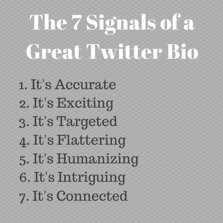 7 ingredients of a great Twitter bio