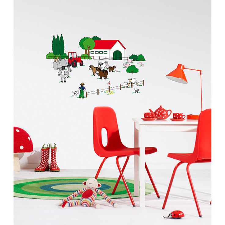 Fabulous Ideal Decor The Farm Wall Decals DM