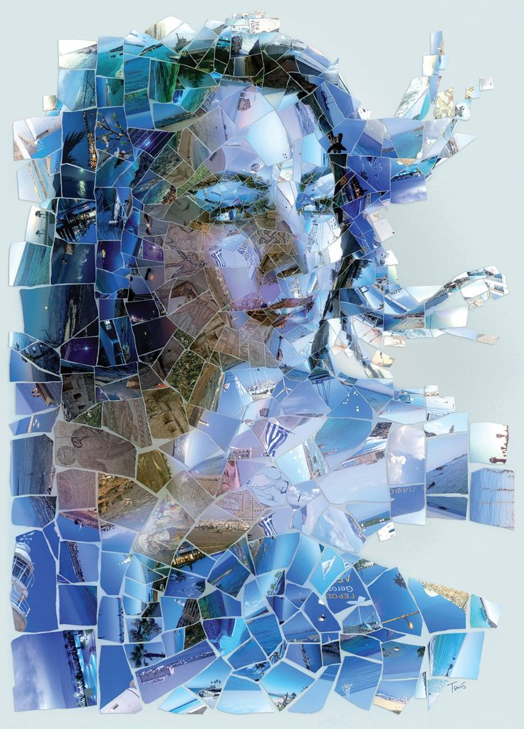 Travellink Project on Behance #mosaic #photomosaic #illustration #venus #cyprus #graphicdesign #female #beauty #aphrodite #Paphos #Pafos #Greece #arts