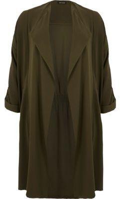 River Island Womens RI Plus khaki duster jacket