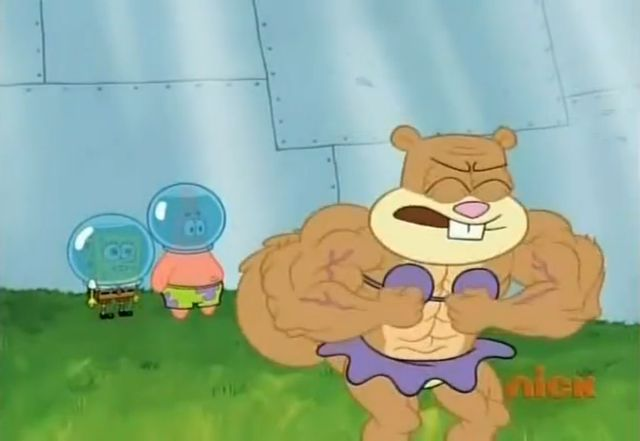 Spongebob Sandy Muscles