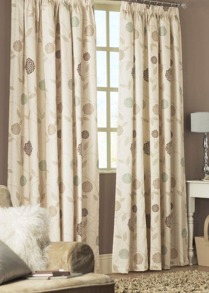 rosemont natural ready made tape top lined curtains
