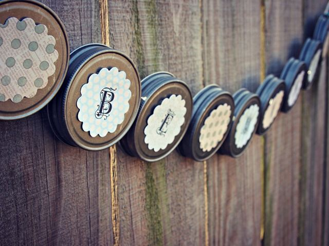 Mason Jar Lid Garland Tutorial