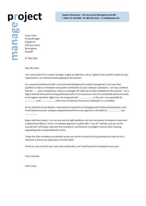 25+ unique Project manager cover letter ideas on Pinterest - employment application cover letter