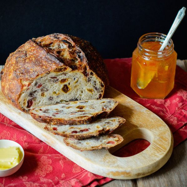Harvest Bread | $15.50 for 2 loaves. Studded with treats: pecans, cranberries, apricots, figs, and candied ginger. Available at: manykitchens.com