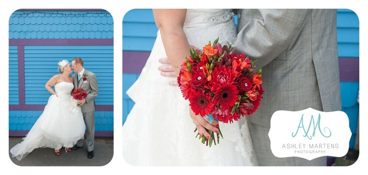 Red flowers and a blue wall | ashleymartensphotography.com