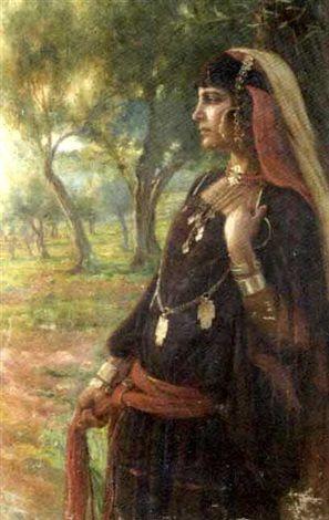Bédouine tunisienne by Albert Aublet