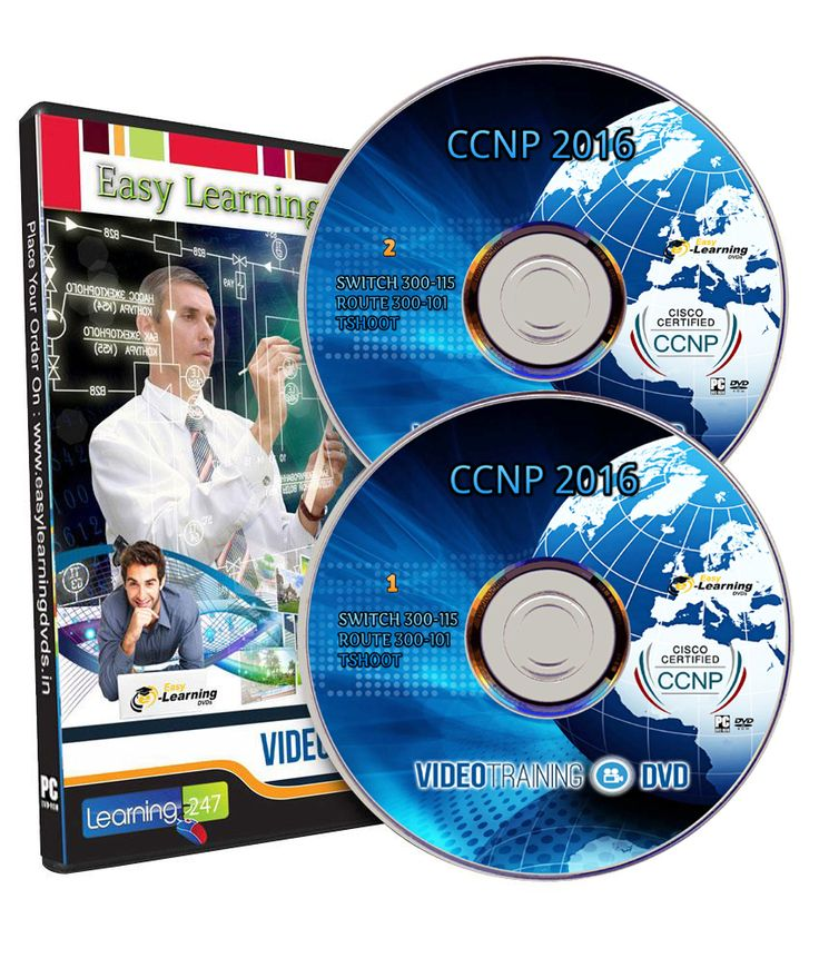 CCNP Exam (SWITCH 300 -115, ROUTE 300-101, TSHOOT) Video Training Course on 2 DVD