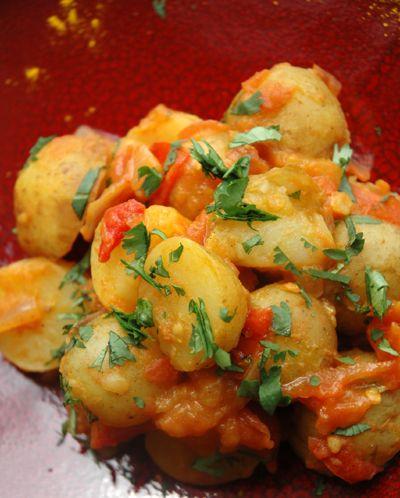 Poêlée de pommes de terre primeurs aux épices Massalé (Massala)