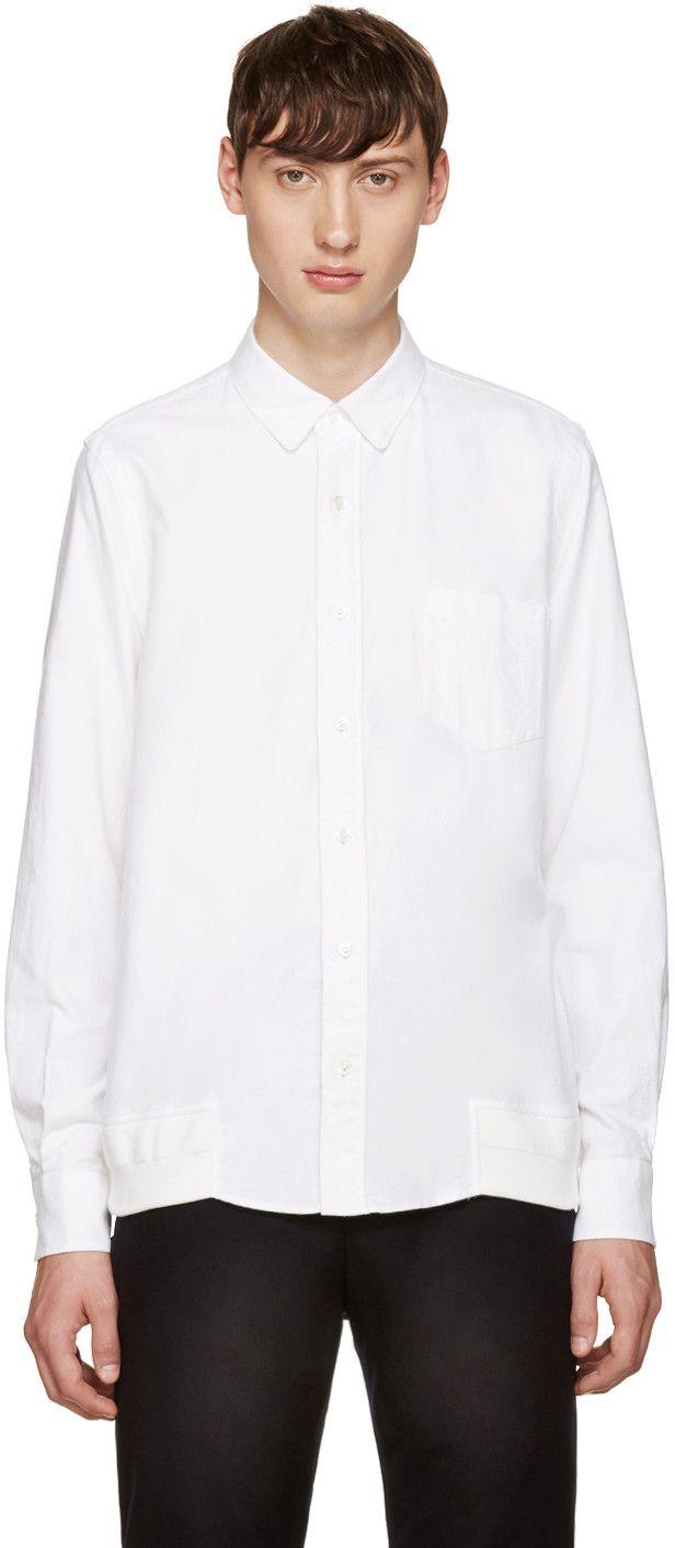 SACAI White Flannel Shirt. #sacai #cloth #shirt