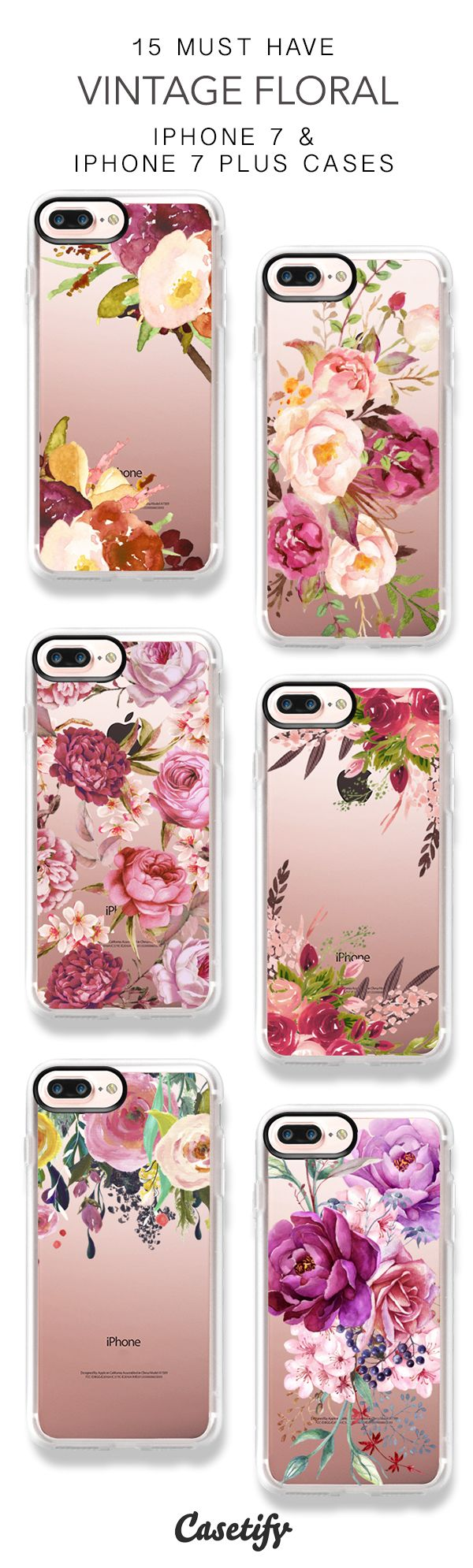 15 Most Popular Vintage Floral iPhone 7 Cases and iPhone 7 Plus Cases. More Floral iPhone case here > https://www.casetify.com/collections/top_100_designs#/?vc=heXba6bIM3