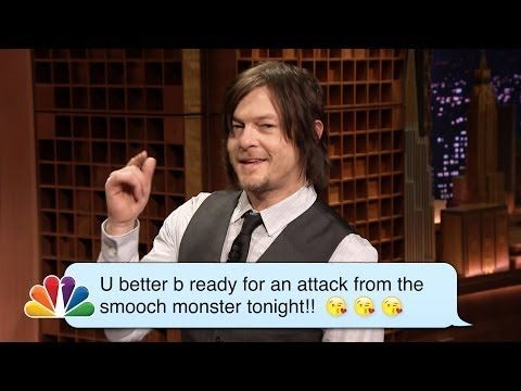 ▶ Norman Reedus (Daryl from The Walking Dead) Reads Romantic Texts Messages - YouTube