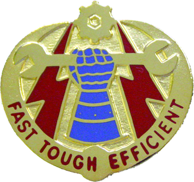 42th Maintenance Battalion Unit Crest (Fast Tough Efficient)