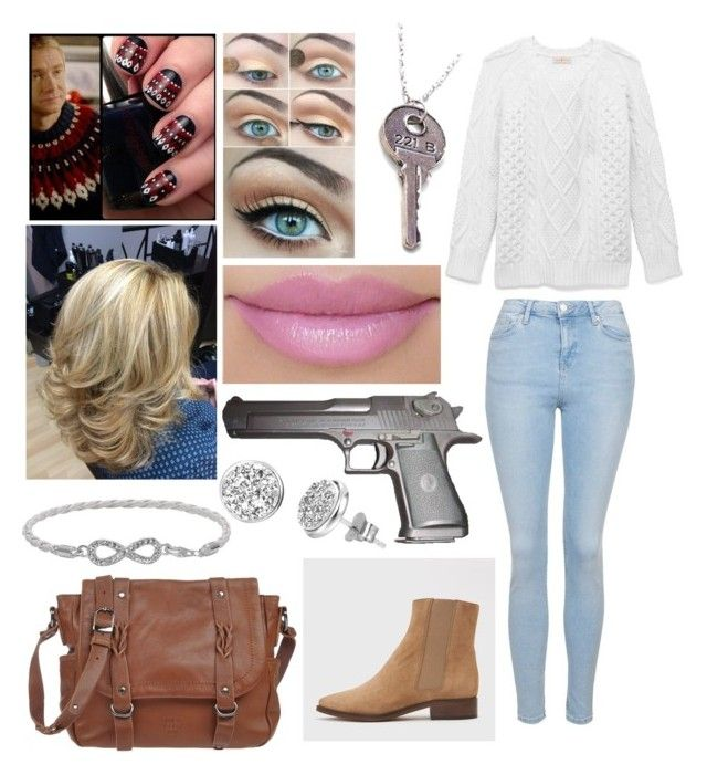 """John Watson sherlock outfit"" by fandombeforeblood ❤ liked on Polyvore featuring Tory Burch, Topshop, Hope, Beretta, Mila Louise, Malin + Mila and H.Azeem"