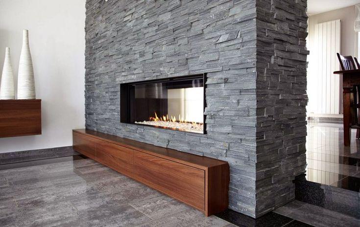17 mejores ideas sobre pared de chimenea de piedra en for Foto di caminetti artigiani