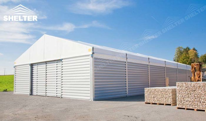http://www.warehousestructure.com/portfolio/storage-tents-for-construction-canopy/  Equipment storage tent for out field construction projests. It large enough to make entrance for heavy equipments  #equipmentstorage #outdoorwarehouse #temporarywarehousestructures