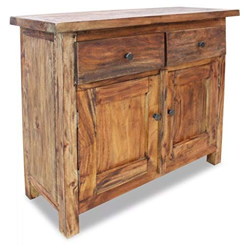 Handmade Solid Reclaimed Wood Sideboard With 2 Doors 2 Drawers Side Cabinet Cupboard Reclaimed Wood Sideboard Wood Sideboard Solid Wood Sideboard