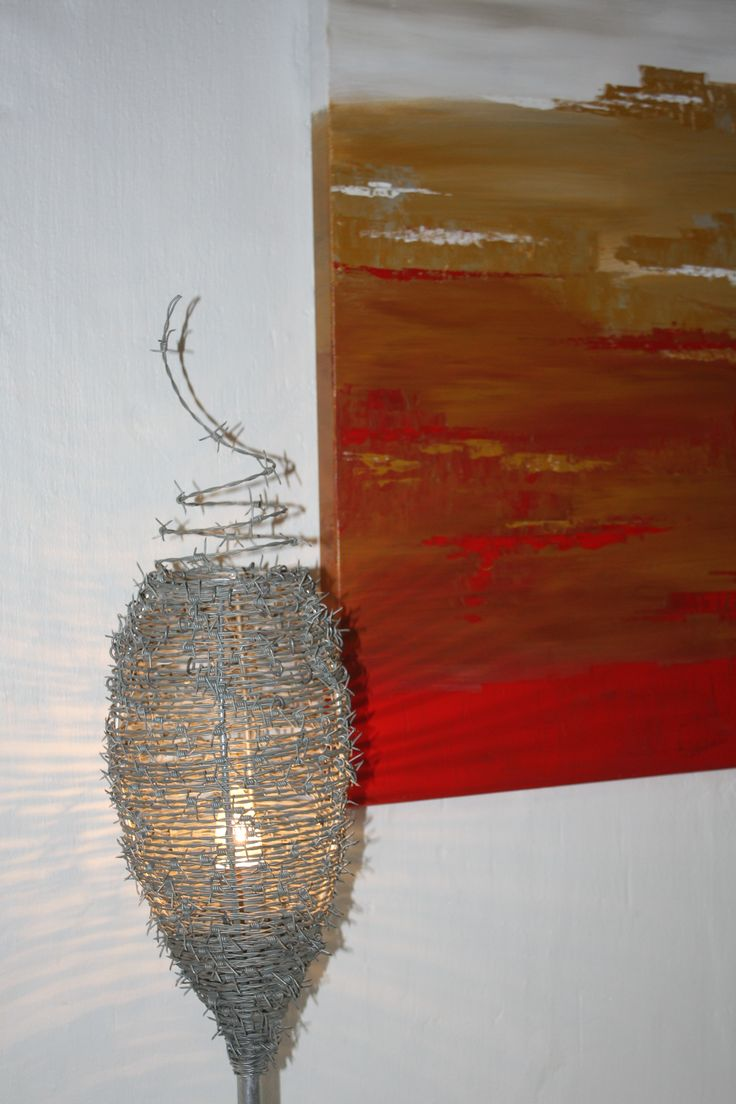 Barbed Wire Cactus Floor Lamp Wiring A