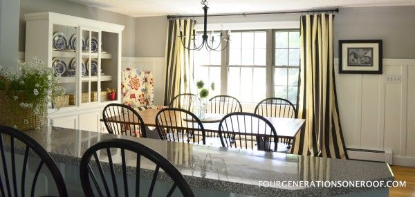 Coastal Cottage Dining Room {before and after} | Four Generations One RoofFour Generations One Roof