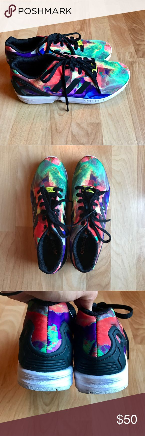 Adidas Torsion ZX Flux tie dye sneakers Practically brand new tie dye Adidas Torsion ZX Flux sneakers size women's 9.5. They have only been worn a couple times and are in excellent condition. If you have any questions please let me know. Reasonable offers accepted😊❤️ adidas Shoes Sneakers