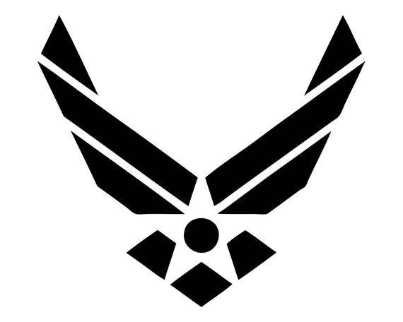 Air Force Vector Logo Outline Symbol Svg Jpeg Png Eps Digital Etsy Air Force Tattoo Air Force Symbol Logo Outline