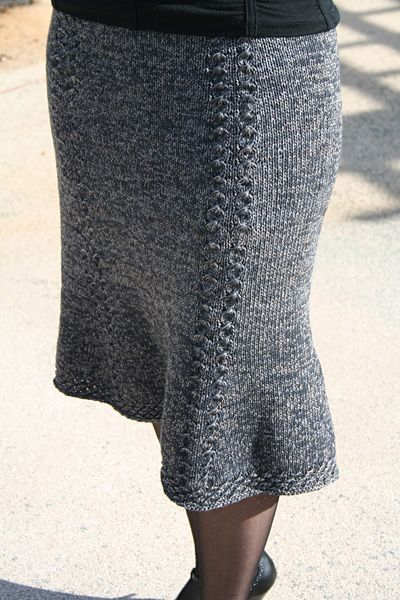 Free Knitted Skirt Patterns : Bell Curve skirt - Winter 2007 - Knitty Wool Love Pinterest