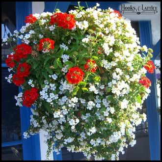 Hanging Baskets from www.HooksandLattice.com