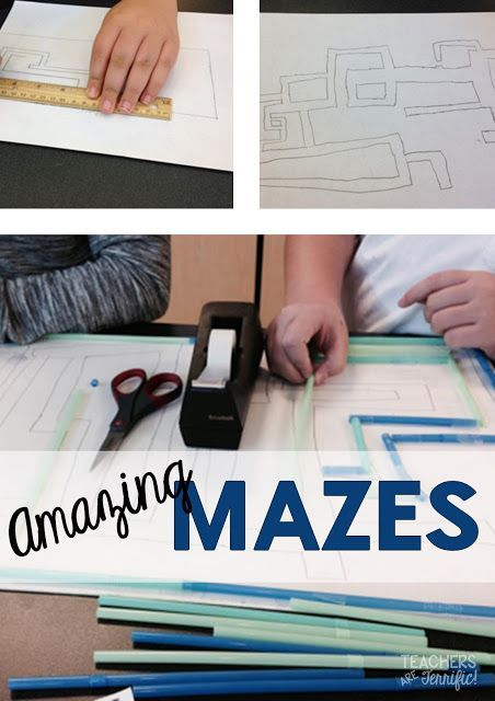 STEM Engineering Challenge: Design your maze on paper and then transfer your idea to a real maze made of paper or straws!