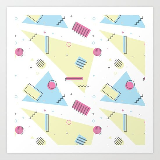 Retro Memphis Pattern Design
