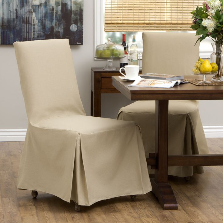 Classic Slipcovers Cotton Duck Parsons Chair Slipcover Pair By