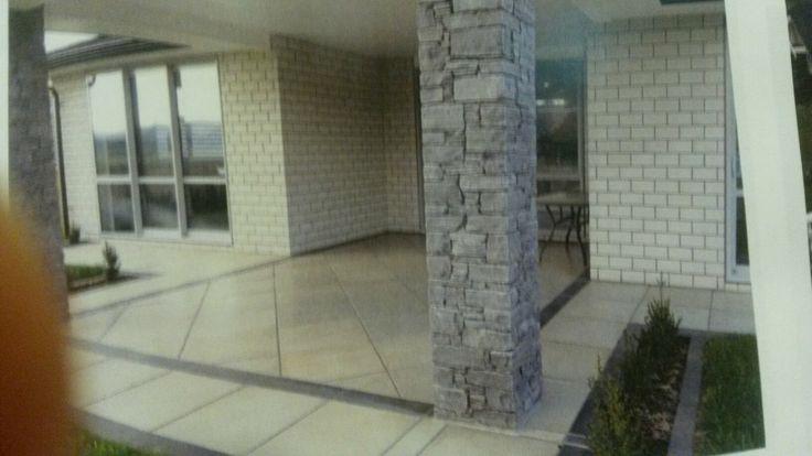 Schist and brick