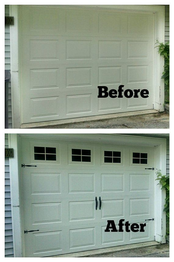 faux fake garage door windows custom by