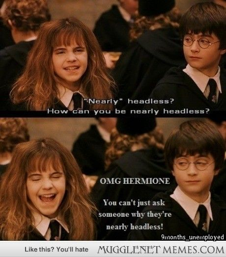 Funny Harry Potter And Hermione Memes : Mugglenet memes harry potter and funny pics