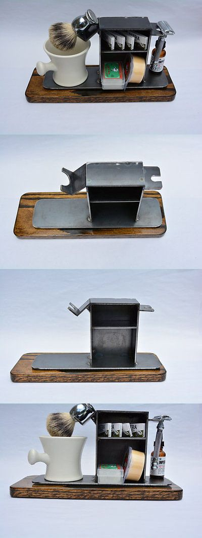 Shaving and Grooming Kits and Sets: Shaving Stand For De Razor, Shaving Brush, Mug, And Accessories, 3 Base BUY IT NOW ONLY: $85.0
