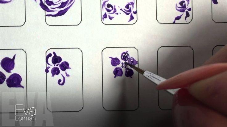 Роспись ногтей! Цветы! Урок 12! Все Видео уроки!