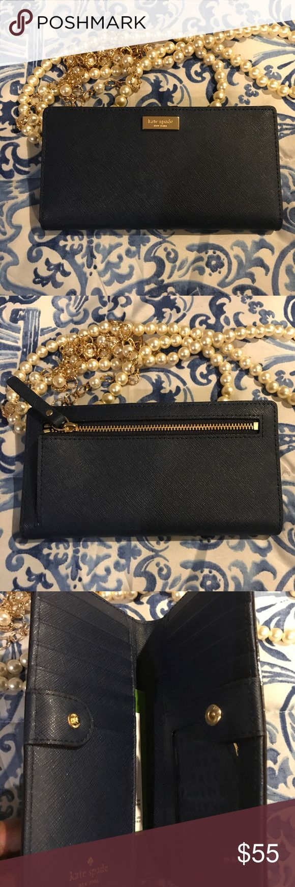 Navy Kate Spade Wallet French Navy Kate Spade Wallet (Newburyport Lane) | Brand New with Tags *Jewelry pictured not included*. 🛍 Proceeds from this sale benefit Suited For Change, a D.C. Non profit Kate Spade Bags Wallets