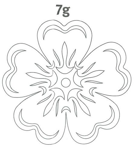 Paper cutting template