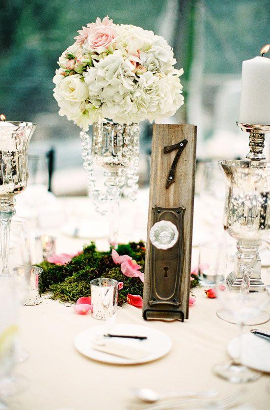 36 best Wedding Table Numbers | Crystal and Crates Vintage Rentals ...