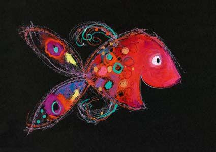 Mies van Hout - kinderboekillustraties  Vis vrolijk uit 'Vrolijk'