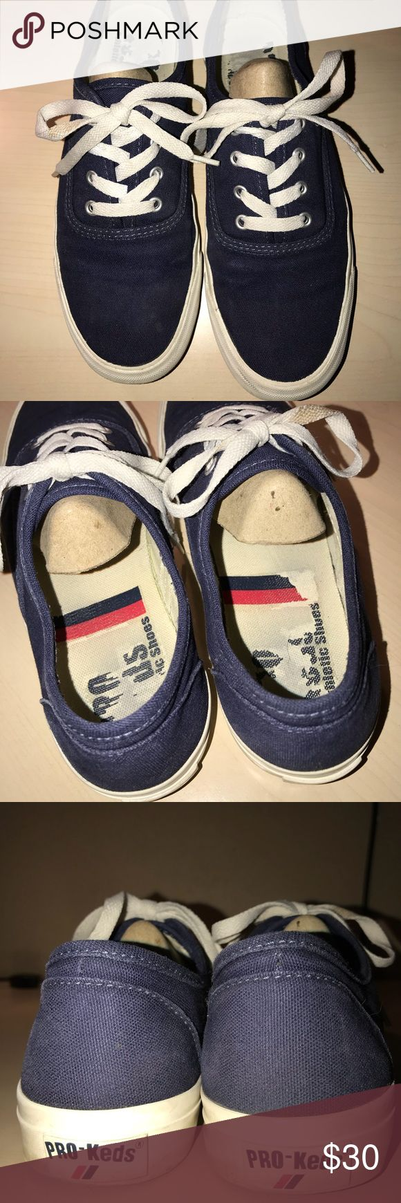 Blue Keds Athletic shoes Preloved blue Pro keds, they have some signs of wear-it can be seen in the pictures. Willing to take reasonable offers Keds Shoes Athletic Shoes