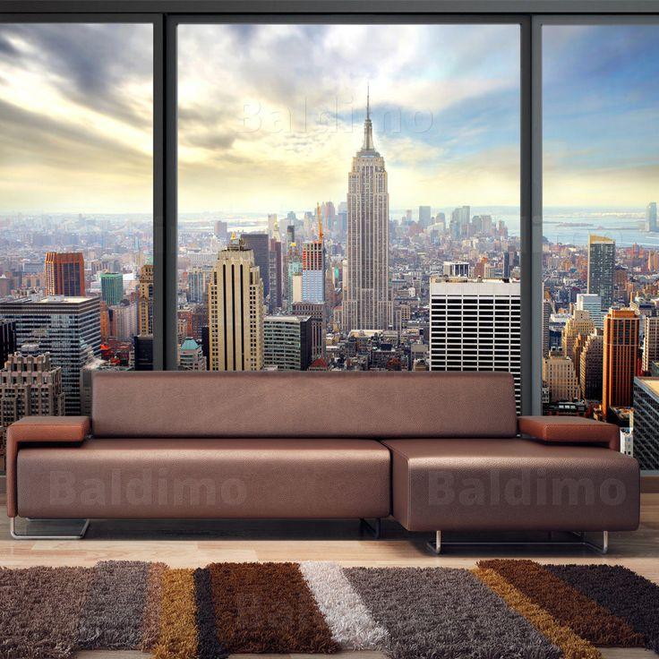 Fototapete fensterblick skyline  Die besten 25+ New york tapete Ideen auf Pinterest | New york ...
