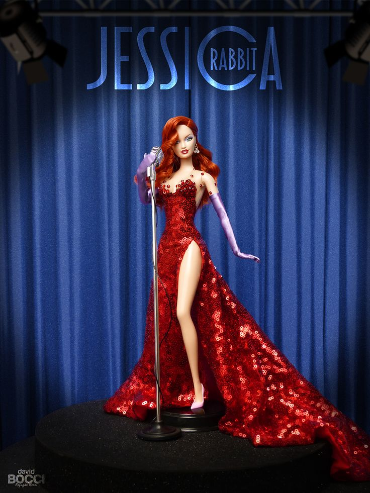 "Ella es Jessica Rabbit, inspirada en la coprotagonista de la película ¿Quién engañó a Roger Rabbit?  Trabaja como cantante de cabaret en ""In..."