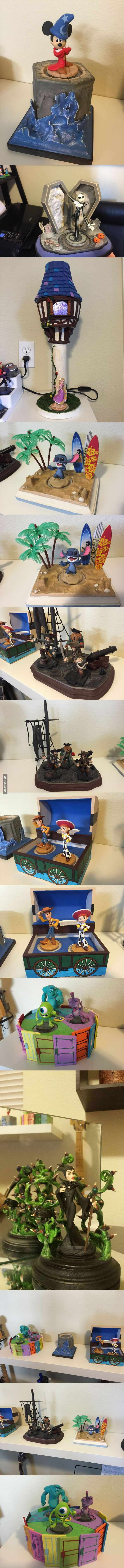 My buddy makes displays for all his Disney Infinity. Had to share with the world